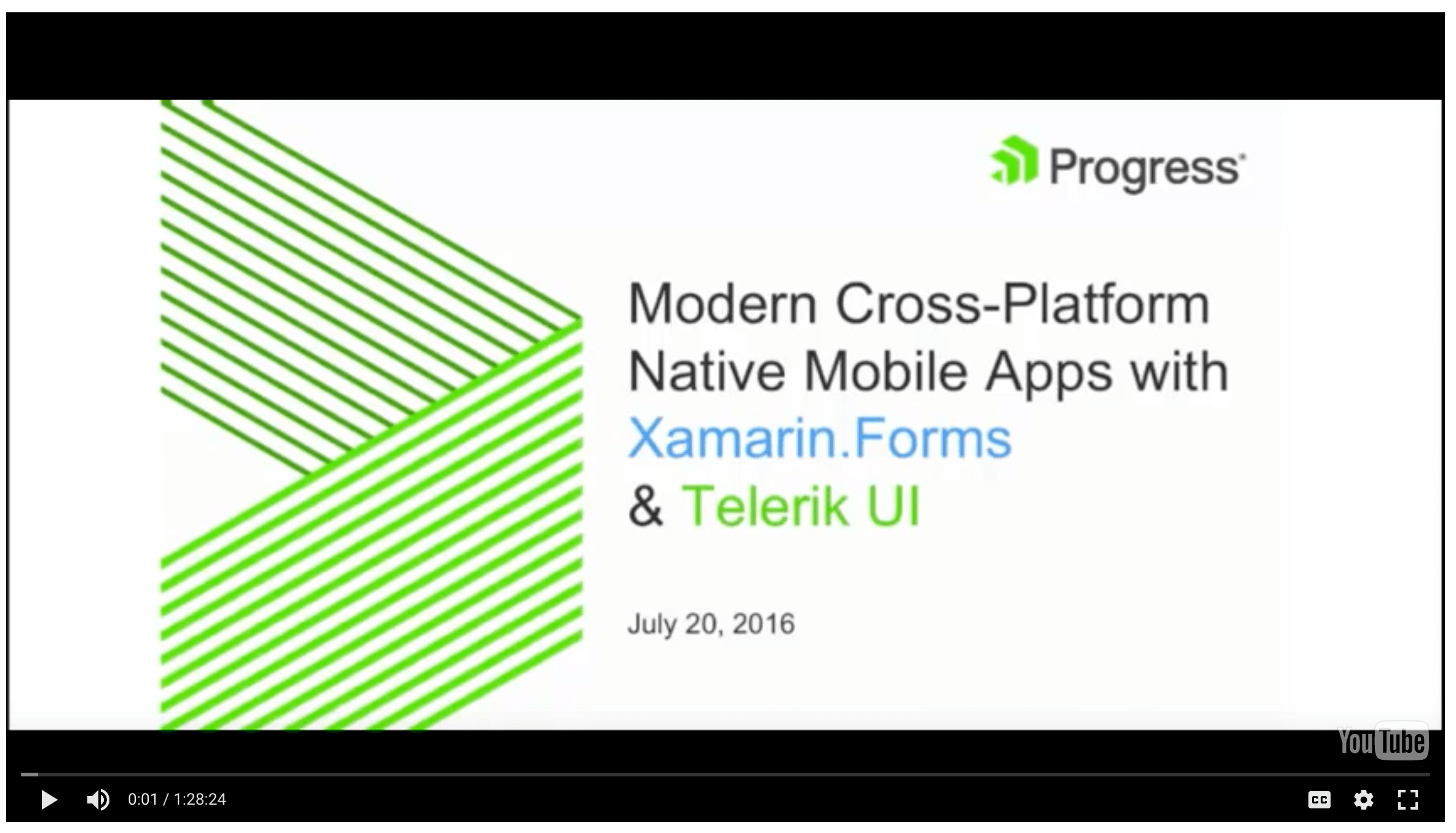 Modern X-Platform Apps with Xamarin Forms & Telerik UI Webinar