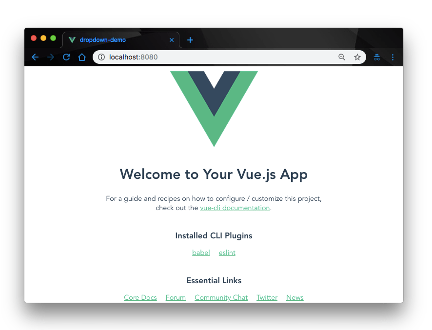 welcome to your vue app