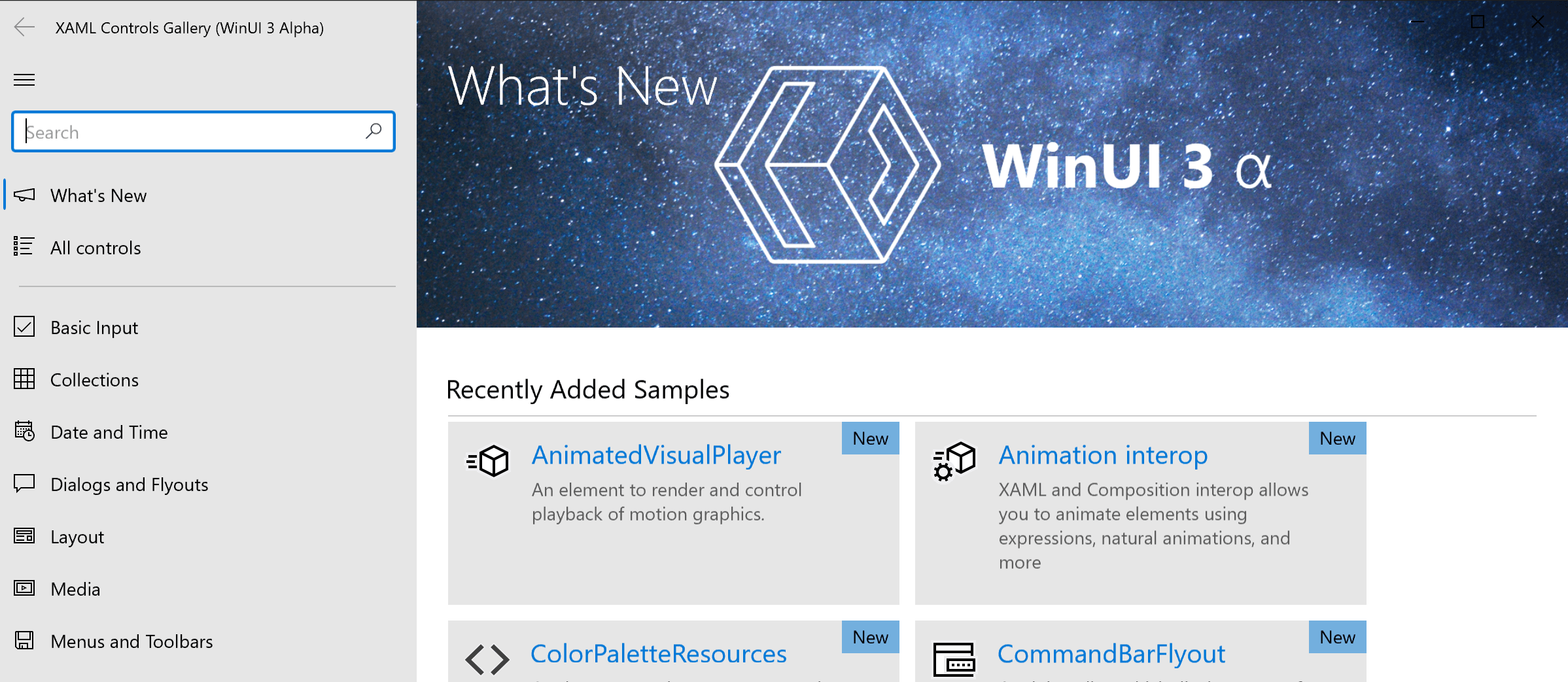 WinUI Demo Application
