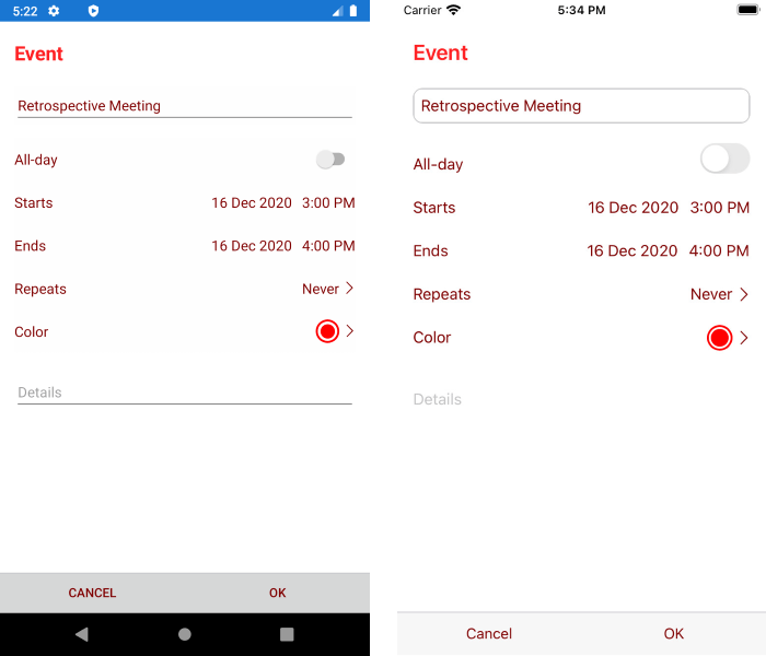 XamarinCalendar_AddAppointmentView