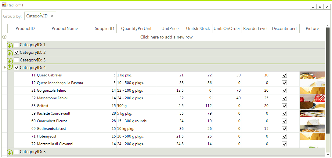 """Check all"""" functionality in group rows - Telerik UI for"""