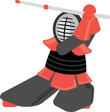 The relentless Kendo UI mascot, the Kendoka