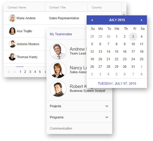 grid-panelbar-calendar