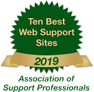 Ten Best Web Support Sites 2019 Badge