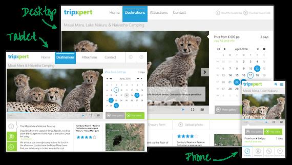 Telerik ASP.NET Web Forms Image Gallery Sample App TripXpert