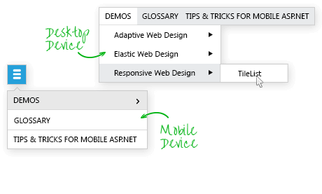 Adaptive Menu for ASP.NET AJAX