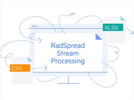 Telerik UI for ASP.NET Core SpreadStreamProcessing - Header