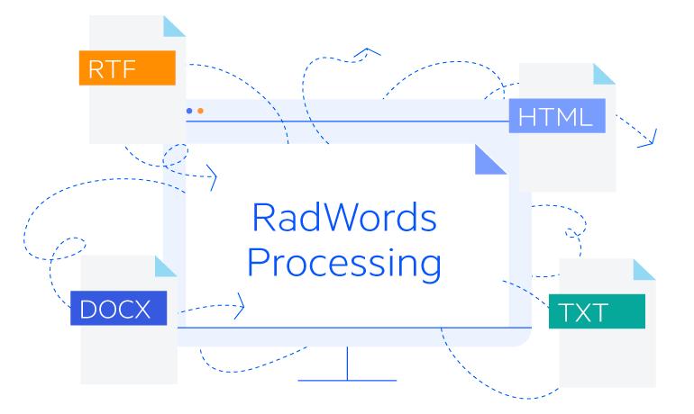 Telerik UI for ASP.NET Core WordsProcessing - Converting Documents