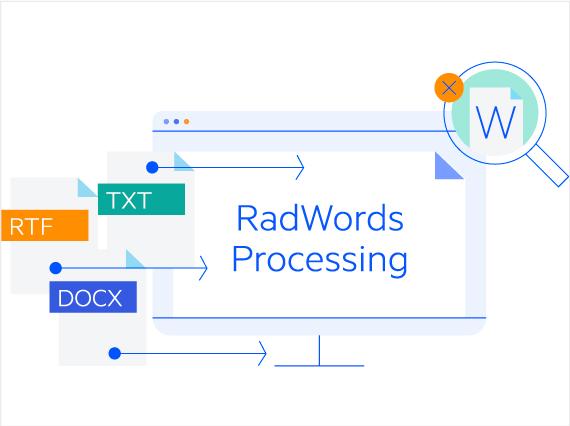 Telerik UI for ASP.NET Core WordsProcessing - Header