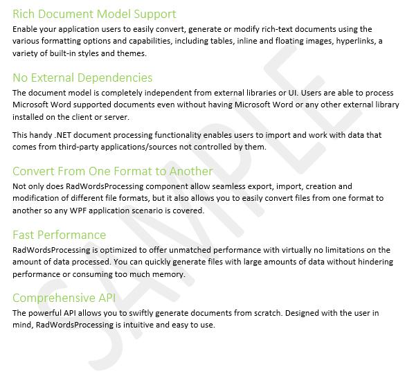 Telerik UI for ASP.NET Core WordsProcessing - Watermarks