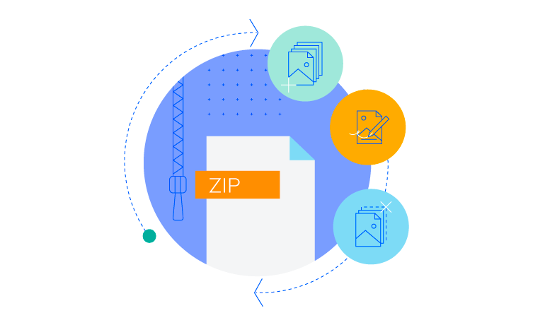Telerik UI for ASP.NET Core ZipLibrary - flexible API to create and edit zip files