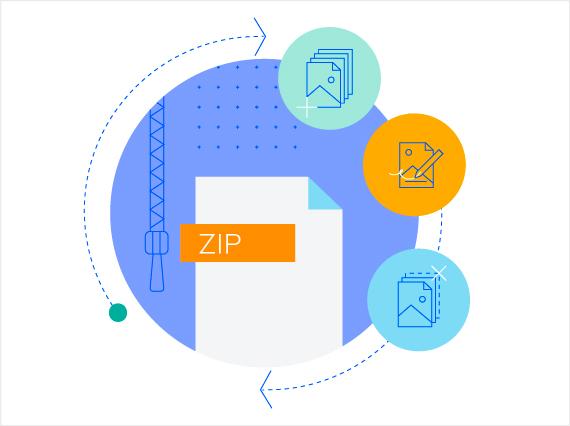 Telerik UI for ASP.NET Core ZipLibrary - Header
