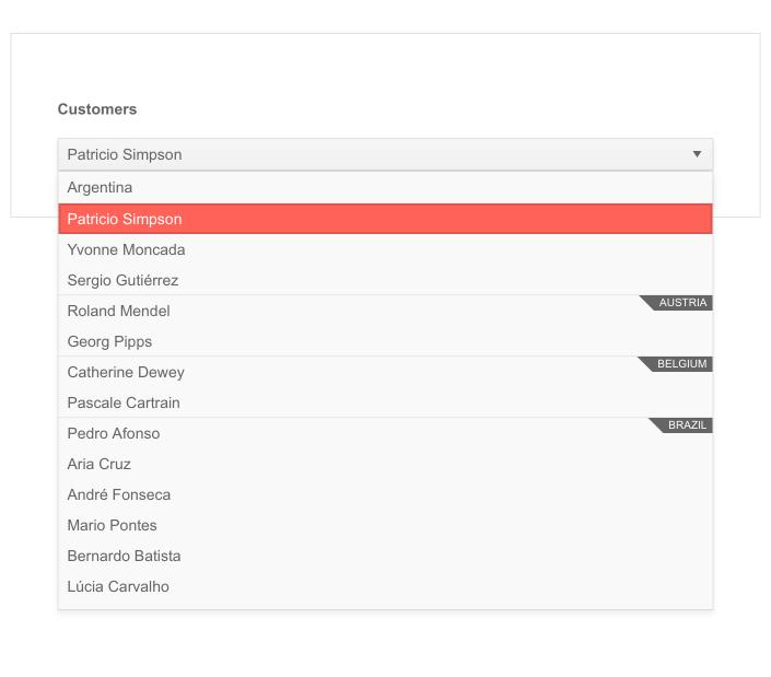 Telerik UI for ASP.NET Core DropDownList Grouping