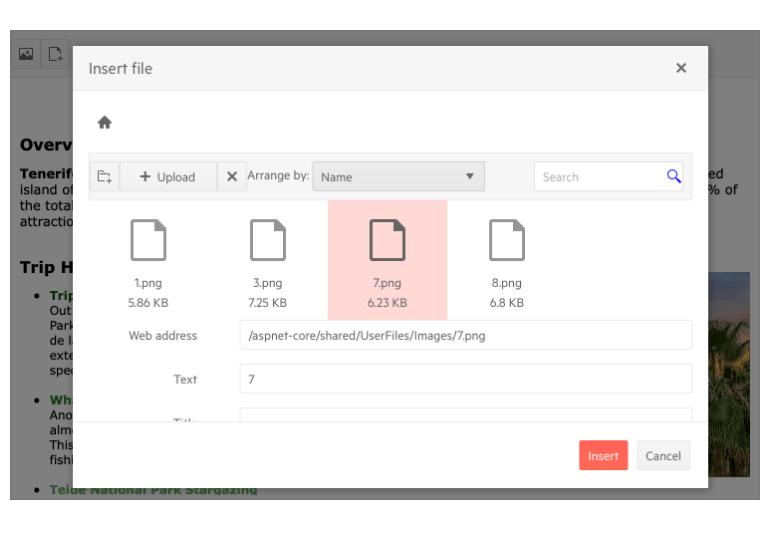 Telerik UI for ASP.NET Core Editor - File Attachment