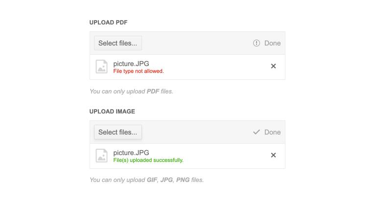 Telerik UI for ASP.NET Core File Upload Validation
