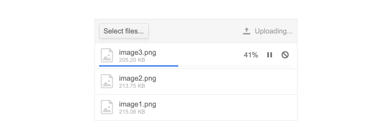 Telerik UI for ASP.NET MVC Upload Out-of-the-Box File Upload Progress