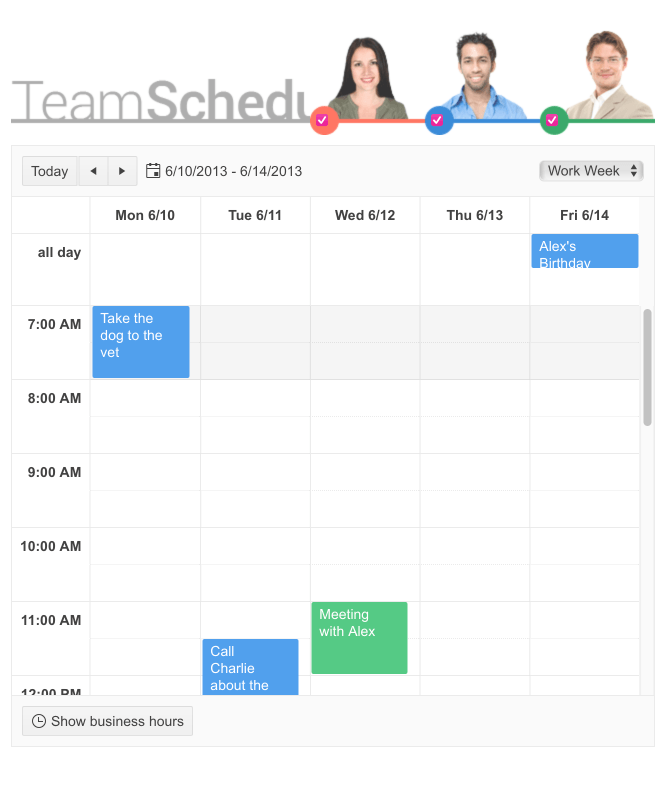 Telerik UI for ASP.NET MVC Scheduler Variety of appointments