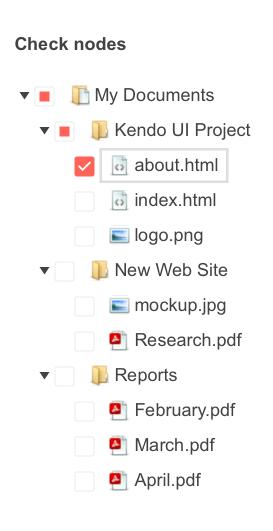 Telerik UI for ASP.NET MVC TreeView - Checkboxes