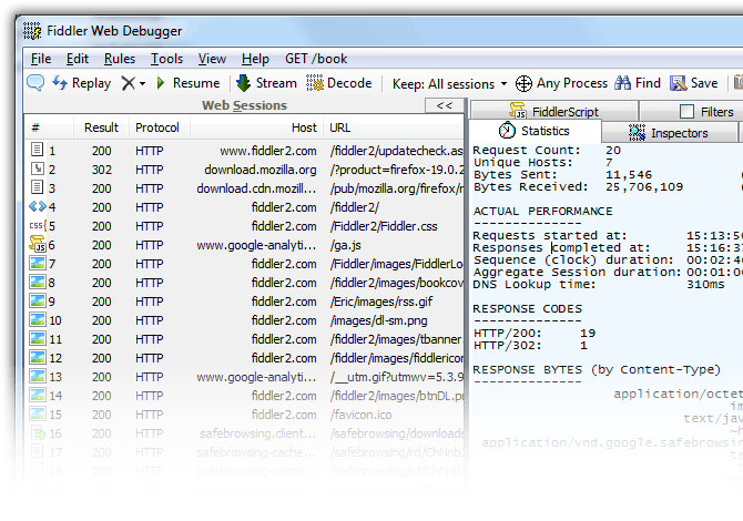 how to use fiddler web debugger