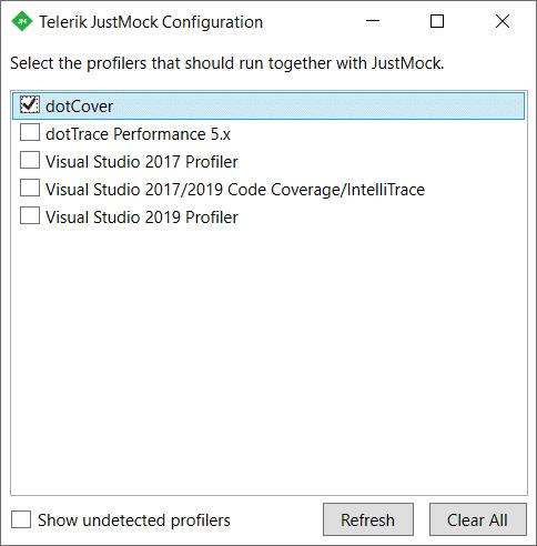 Telerik JustMock Integration with dotCover