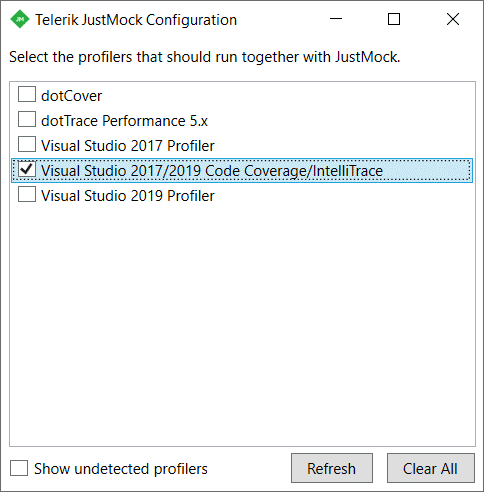 Integration with VS InteliTrace
