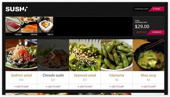 SushiWeb Kendo UI Sample App