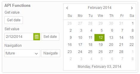 Calendar Control - Kendo UI with support for jQuery