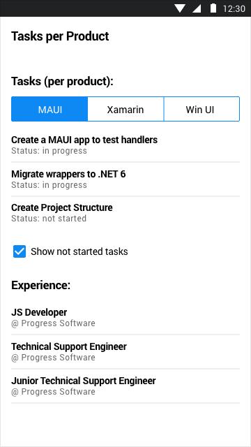 Telerik UI for MAUI SegmentedControl