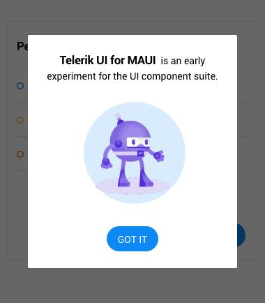Telerik UI for MAUI Popup