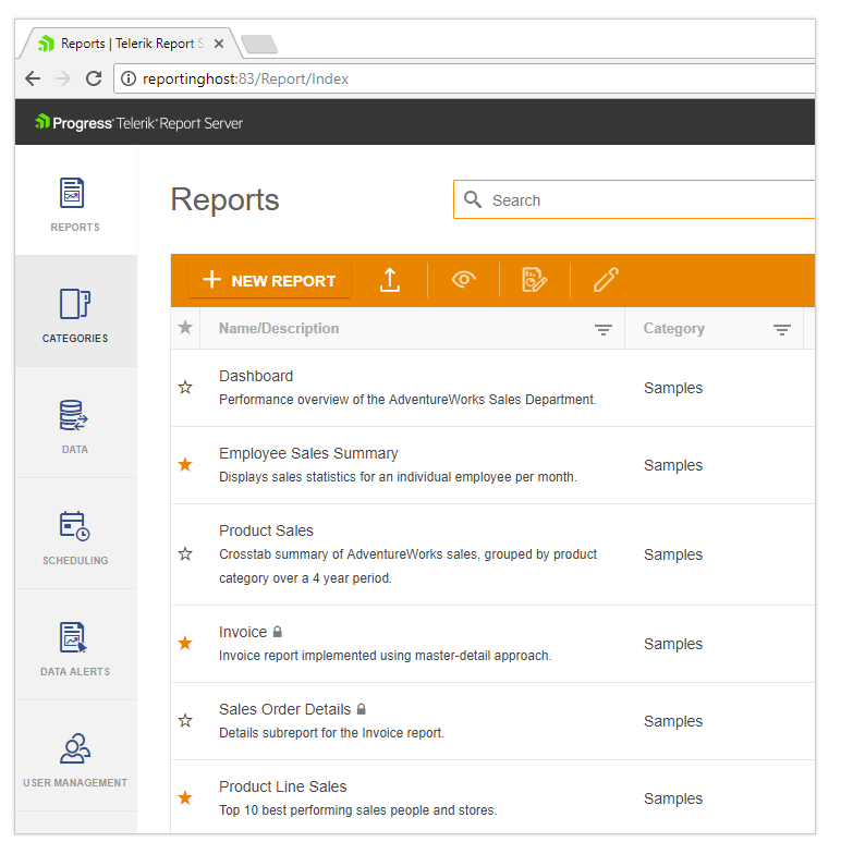 Fully Functional Report Management Solution