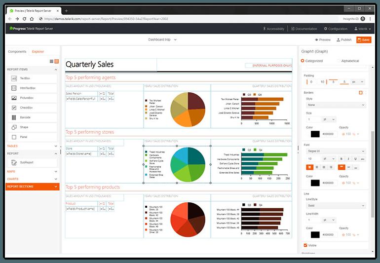 Web-based Report Designer