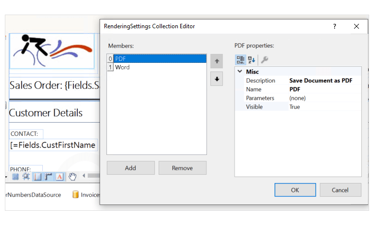 Apply Export Visibility and Settings per Report