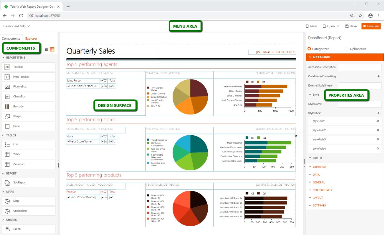 Multiple report designers
