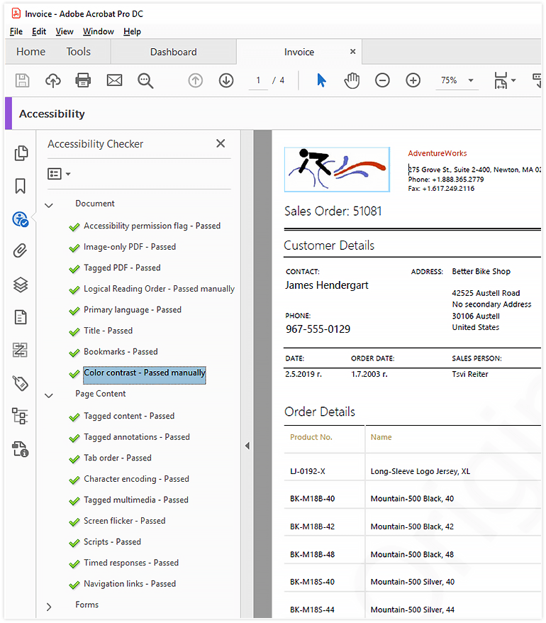 PDF Documents Accessibility