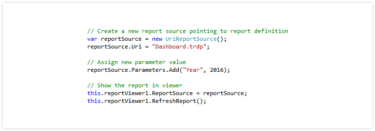 Complete API for Creating And Rendering Reports