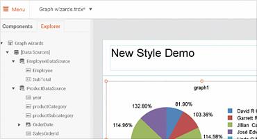 Full-featured web-based report designer