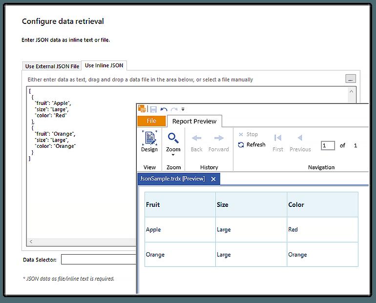 JSON DataSource Component