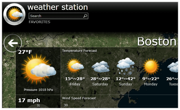 Silverlight Sample App Weather Station