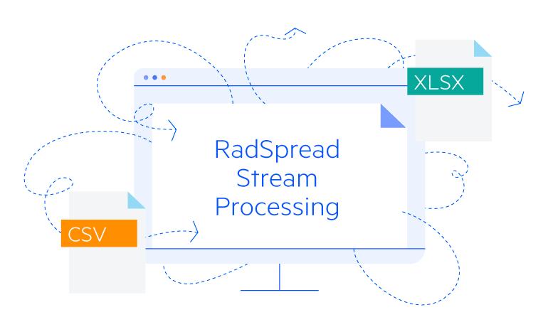 Telerik UI for Blazor SpreadStreamProcessing - Overview