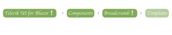 Telerik UI for Blazor Breadcrumb - Templates
