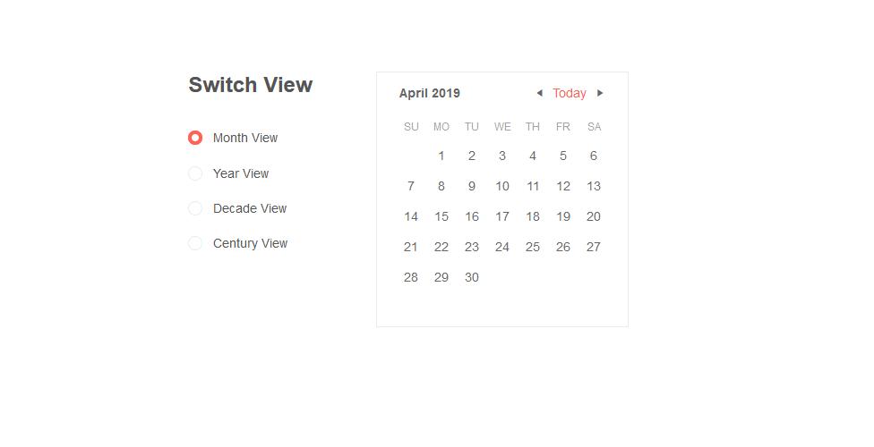 Calendar Default