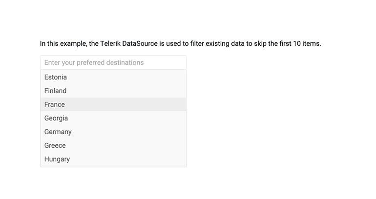 Telerik UI for Blazor MultiSelect Custom Filtering