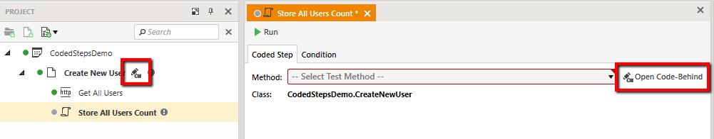 open-code-behind-button