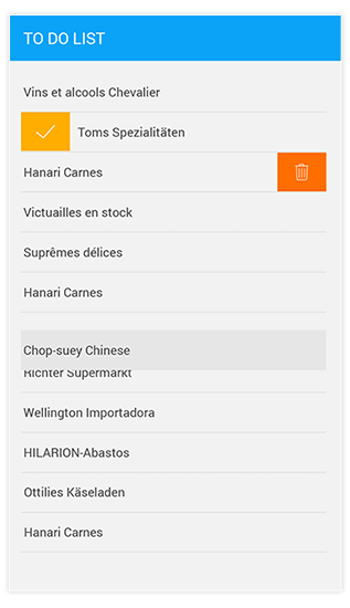 Reorder Items with Drag and Drop in Xamarin ListView Example
