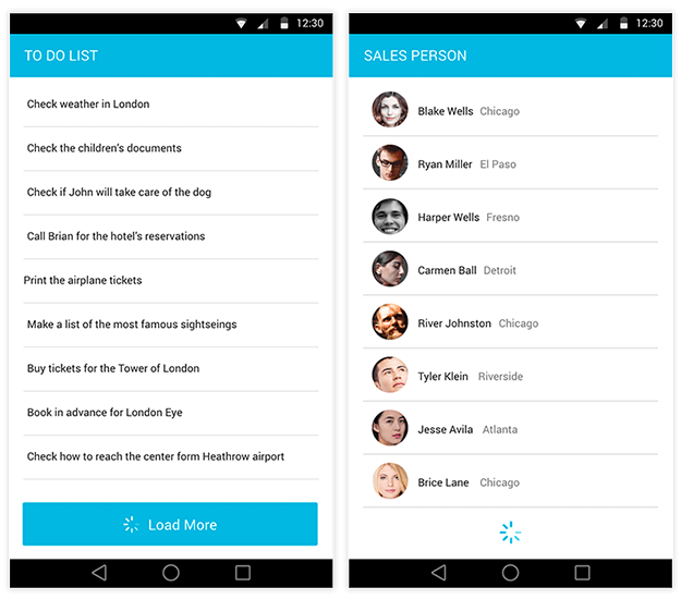 Xamarin.Forms ListView Load on Demand Example
