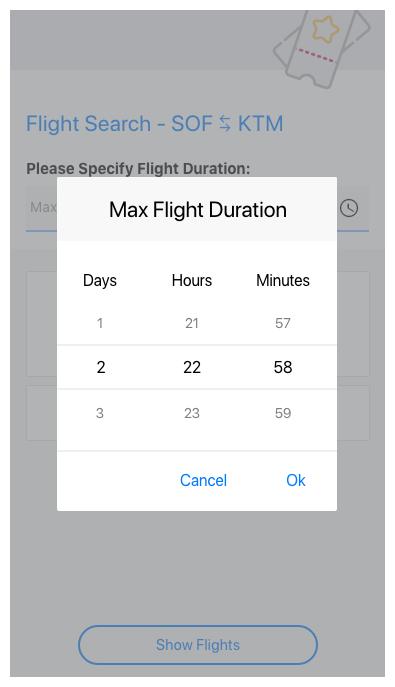 Telerik UI for Xamarin - TimeSpanPicker control