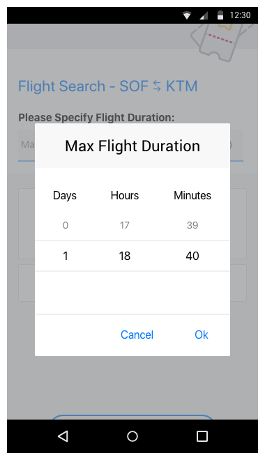 Telerik UI  for Xamarin - TimeSpanPicker Time Range