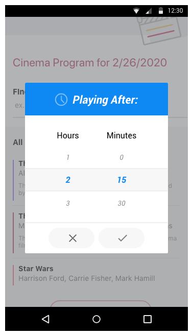 Telerik UI for Xamarin - Templates TimeSpanPicker