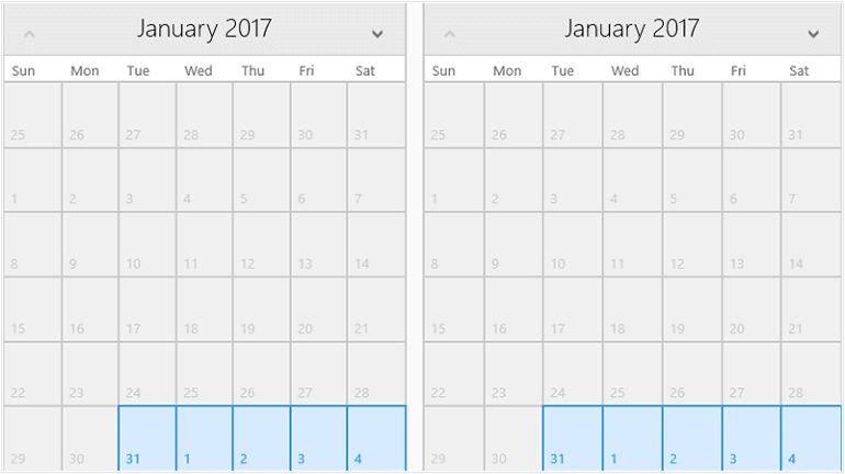 Telerik UI for UWP Calendar Control Overview