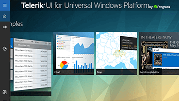 Telerik UI for UWP Demos Overview Image